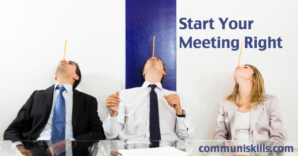 Three Elements of a Successful Meeting Opening